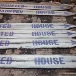Haunted House Direction Signs
