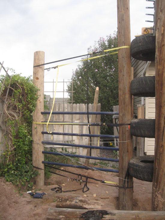 how to build houseboj telephone pole