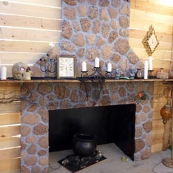 Stone Fireplace Made From Styrofoam | The Dye Clan