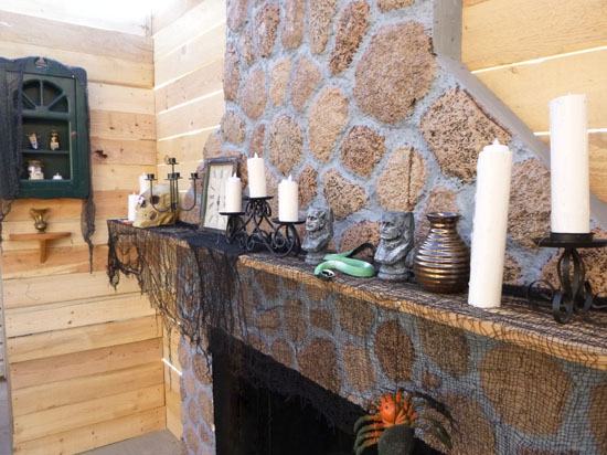 fireplace made of styrofoam